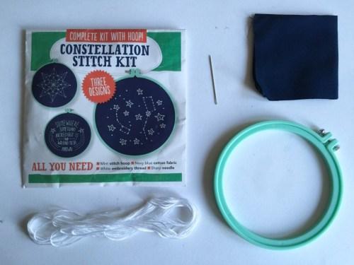 Mollie Makes star hoop stitch kit