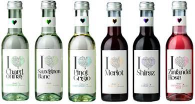i heart range of wine bottles