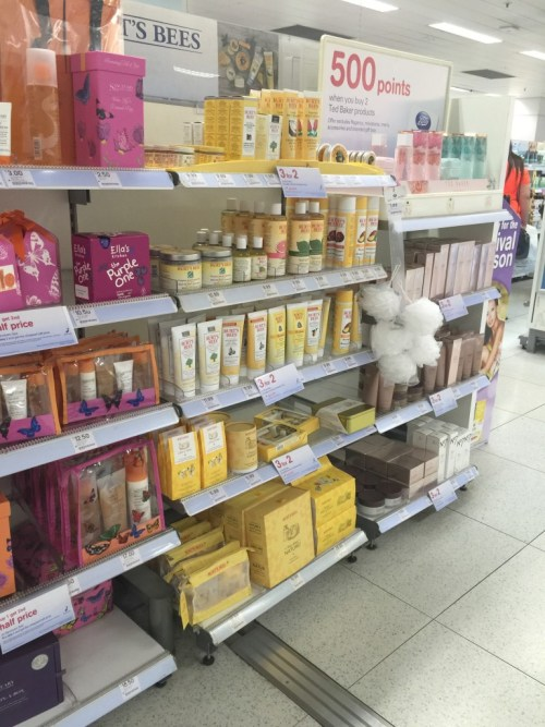 Burt's Bees products in Boots