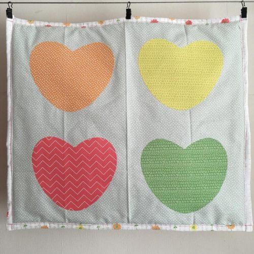 dear stella love hearts quilt