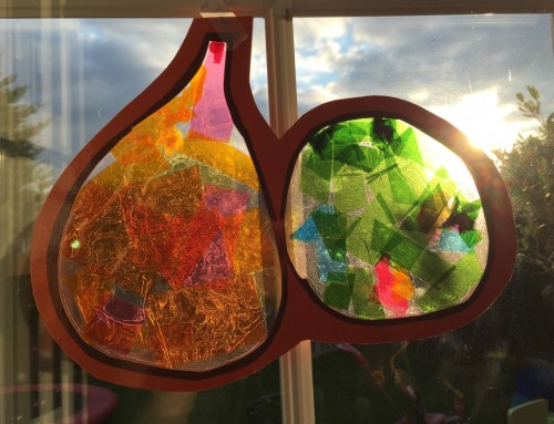 Pumpkin and gourd sun catcher decorations