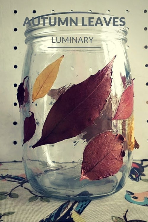 Autumn leaves luminary