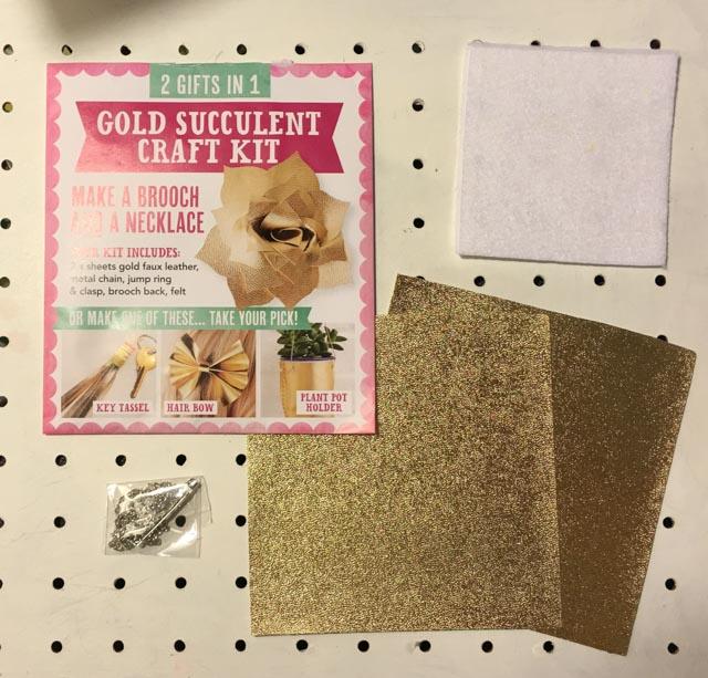 Mollie Makes gold succulent kit