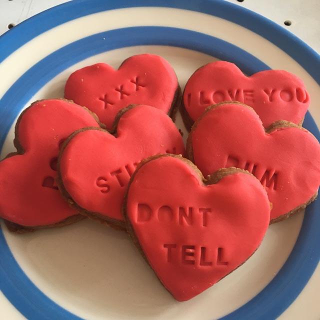 rude word Valentine's Day biscuits