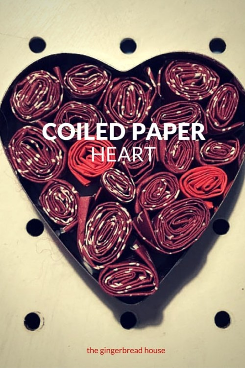 Coiled paper heart craft