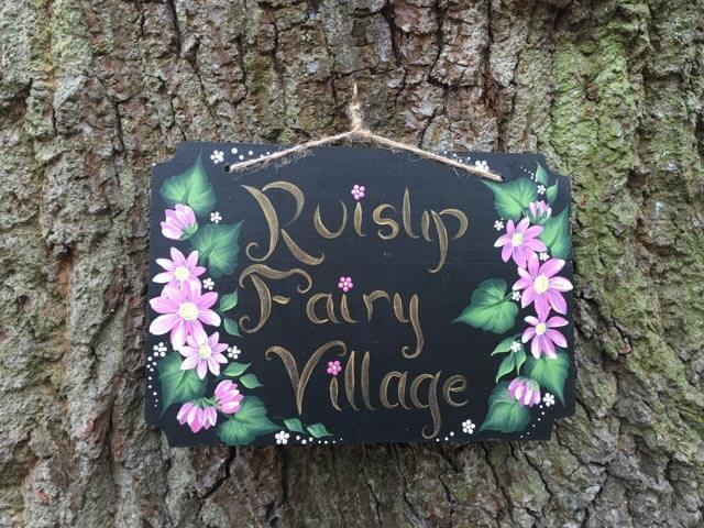 fairy village sign