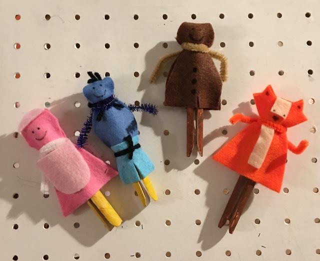 gingerbread man peg dolls