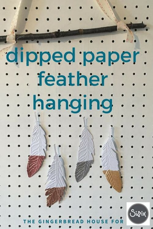 how to create dipped paper feathers