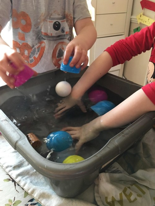 Easter Egg Surprise Sink and Float Guessing Game