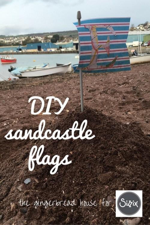 DIY sandcastle flags