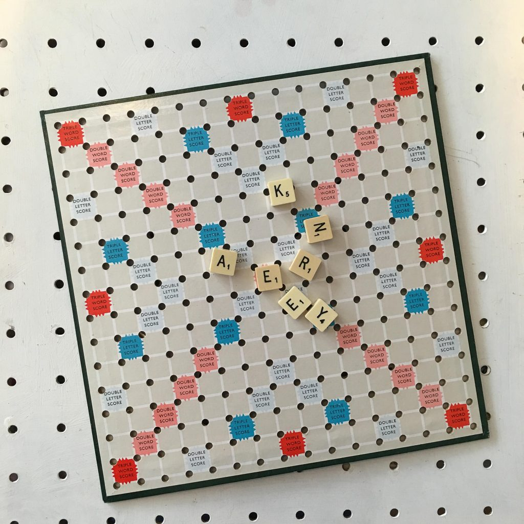 Nice Make your own Scrabble wall art