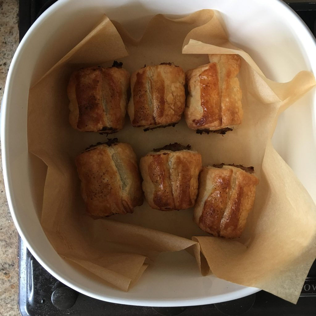sage and mustard sausage rolls