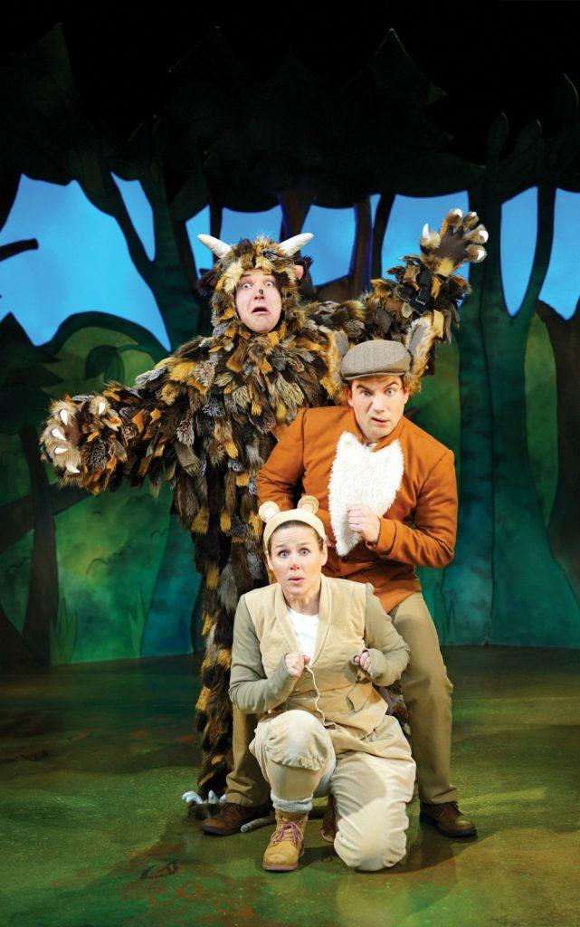 Steve McCourt (The Gruffalo) Ellie Bell (Mouse) & Charlie Guest (Predators)