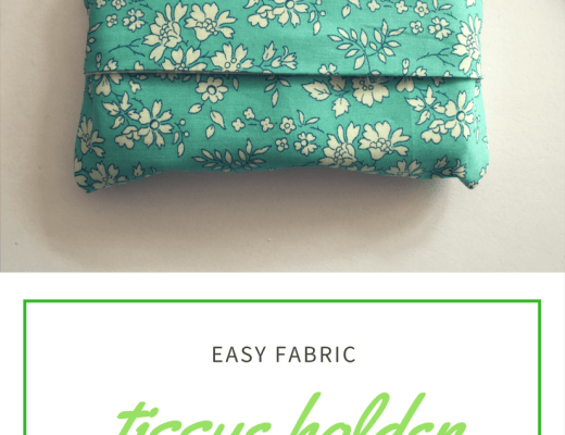 easy fabric tissue holder tutorial