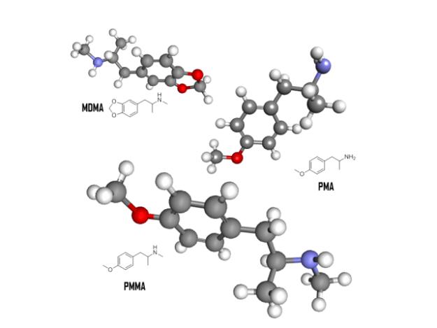 Amphetamine structures. Image credit: Craig McInnes.