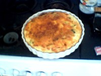 scramble burger quiche