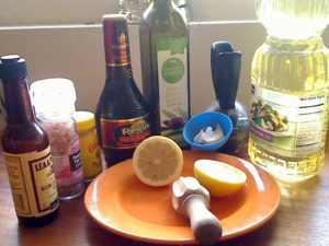 Mis en Place for Original Brown Derby Salad Dressing