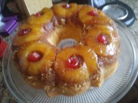 Coconut Pineapple Upside-Down Bundt Cake