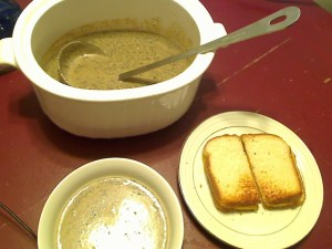 Cream of Mushroom Soup with Sherry