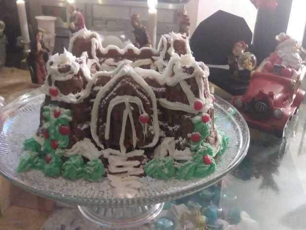 Gingerbread Fortress Bundt Cake