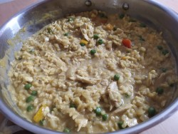The Month of Italian - Curried Chicken Risotto