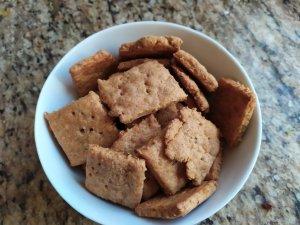 Sourdough Cheese Herb Crackers