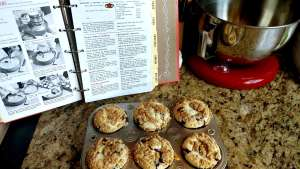 Food Processor Blueberry Muffins with Crumb Top