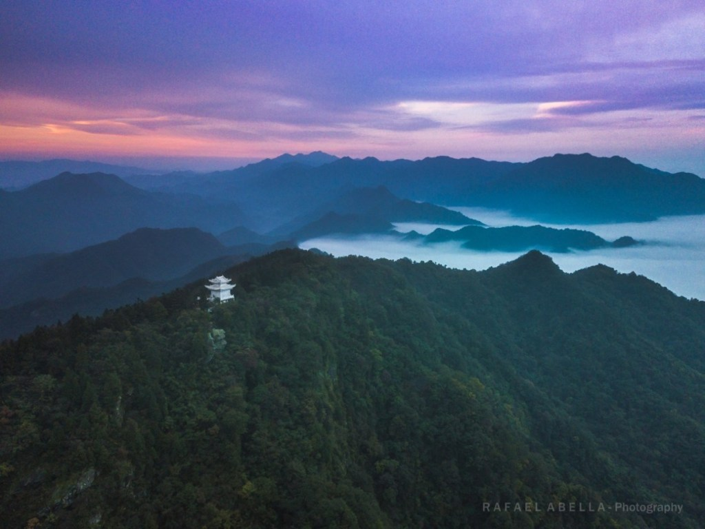 The Five Immortals Temple on top of the Wudang mountains in China
