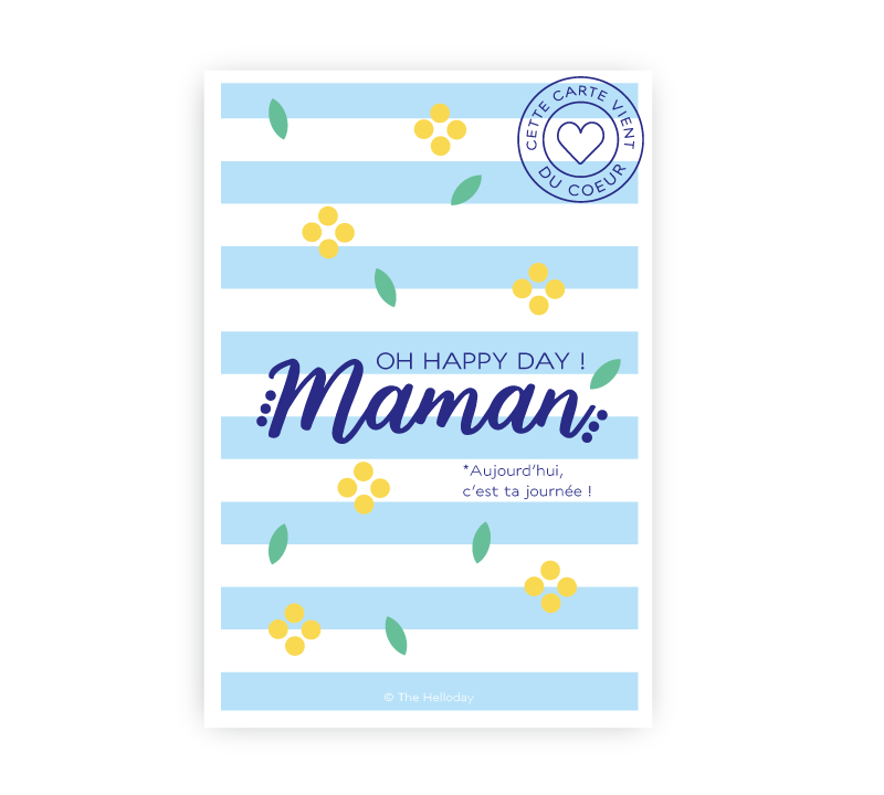Carte postale - Oh Happy Day Maman