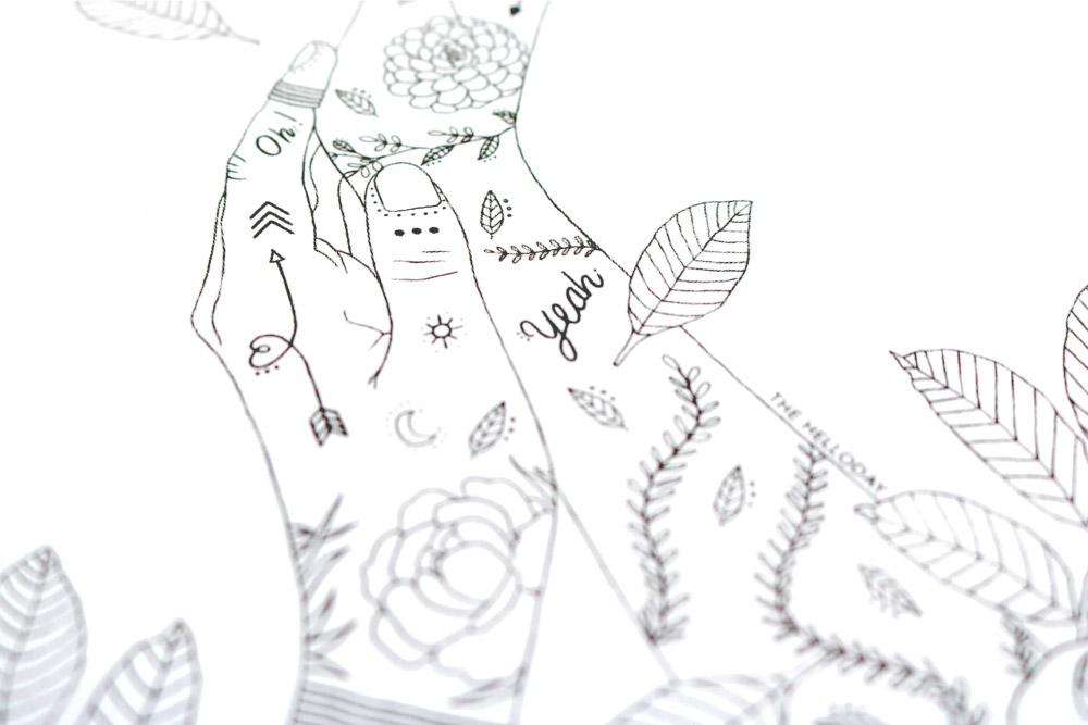 Illustration - La femme tattoo #3