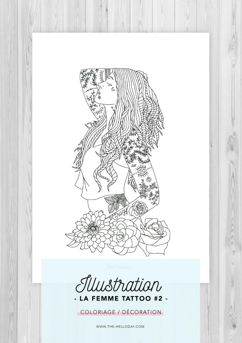 Illustration - La Femme Tattoo #2