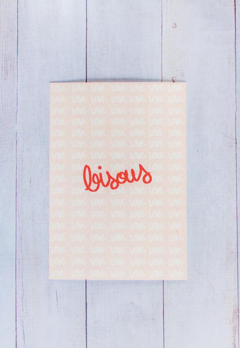Cartes petits mots doux St Valentin - bisous