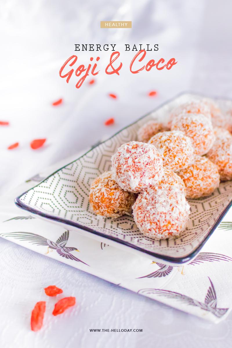 Recette Healthy - Energy Balls Goji Coco