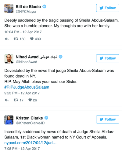 judge tweets
