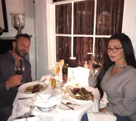 JWoww and Roger Mathews at Dinner