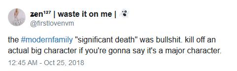 Modern family death reaction tweet 02