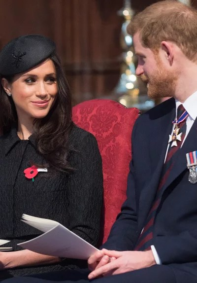 Meghan Markle and Prince Harry Stare at Each Other