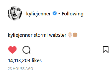 Kylie Jenner Baby Announcement Instagram Likes