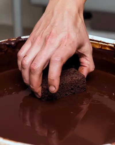 making brownie
