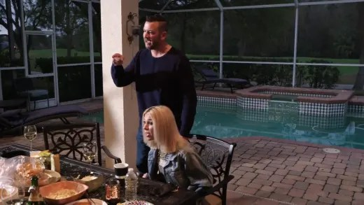 Charlie Potthast and Megan Potthast yell at Chuck
