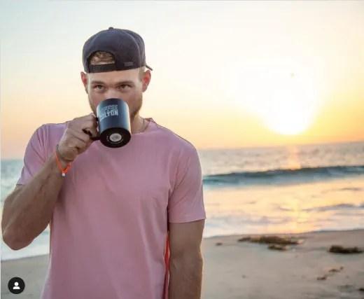 Colton Underwood Sips Coffee