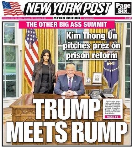 New York Post Kim Kardashian Donald Trump