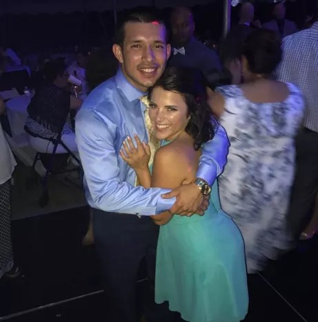 Javi Marroquin and Lauren Comeau