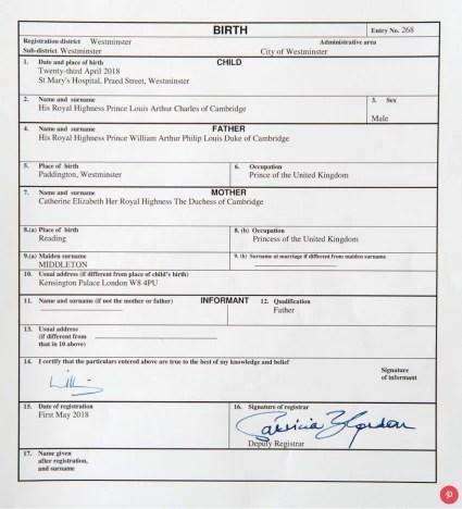 louis certificate
