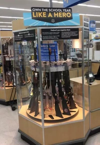 Wal-Mart Gun Display
