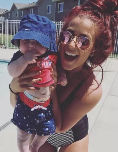 Chelsea Houska with Baby Watson DeBoer