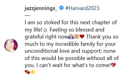 Jazz Jennings harvard 2023 announcement