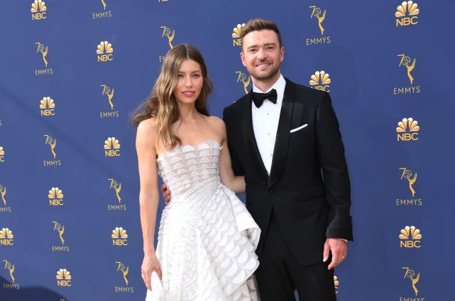 Jessica biel and justin timberlake at the emmys