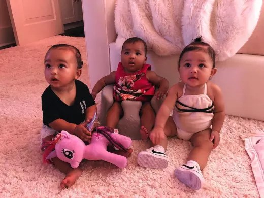 Chicago West, True Thompson, and Stormi Webster
