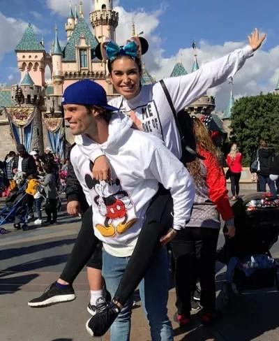 Ashley Iaconetti and Kevin Wendt at Disneyland